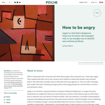 How to be angry   Psyche Guides
