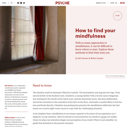 How to find your mindfulness | Psyche Guides