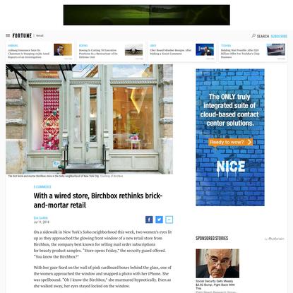 With New York store, Birchbox rethinks brick-and-mortar retail