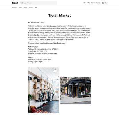 Tictail Market * Tictail