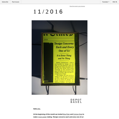 11/2016: Design concerns each and everyone of us