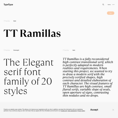 TT Ramillas | Commercial Fonts | TypeType