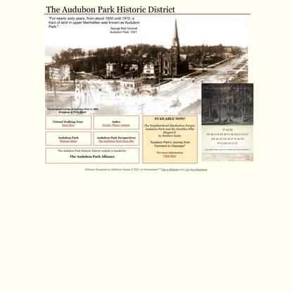 The Audubon Park Historic District
