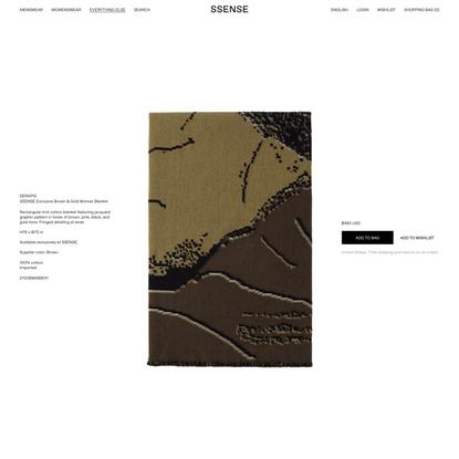Serapis - SSENSE Exclusive Brown & Gold Woman Blanket