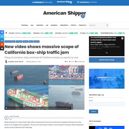 New video shows massive scope of California box-ship traffic jam
