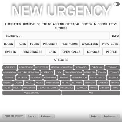 New Urgency