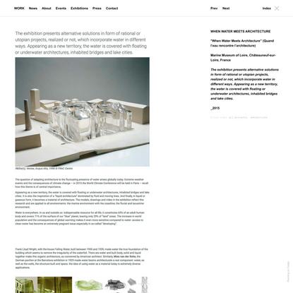 WHEN WATER MEETS ARCHITECTURE - FAULDERS STUDIO