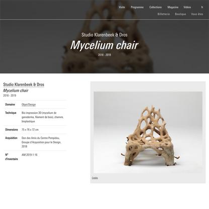 Mycelium chair - Centre Pompidou