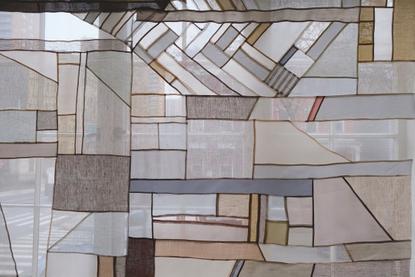 "Thompson Street Studio's Instagram post: ""Rainy day✨✨ #brooklynwindow #detail #handmade #interiortextiles #bojagi #transpare..."