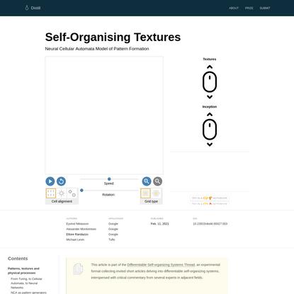Self-Organising Textures