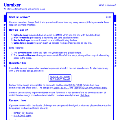 Unmixer