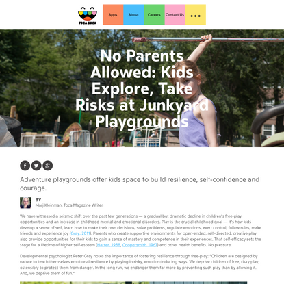 No Parents Allowed: Kids Explore, Take Risks at Junkyard Playgrounds | The Power of Play | Toca Boca