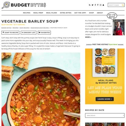 Vegetable Barley Soup Recipe - Vegan - Budget Bytes