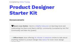Product Designer Starter Kit