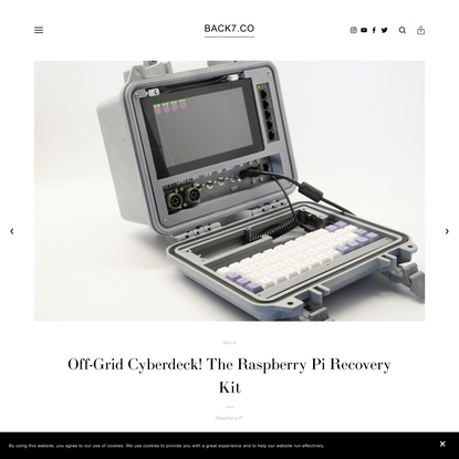 Off-Grid Cyberdeck! The Raspberry Pi Recovery Kit — BACK7.CO