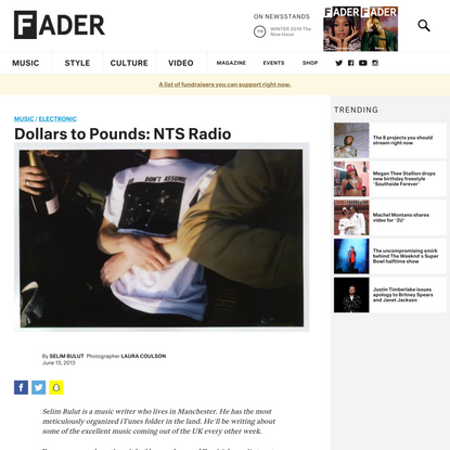 Dollars to Pounds: NTS Radio