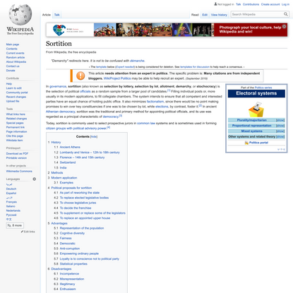 Sortition - Wikipedia