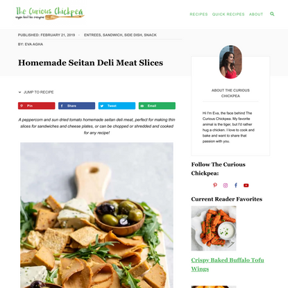 Homemade Seitan Deli Meat Slices
