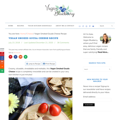 Vegan Smoked Gouda Cheese Recipe