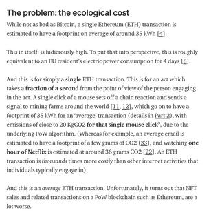 The Unreasonable Ecological Cost of #CryptoArt