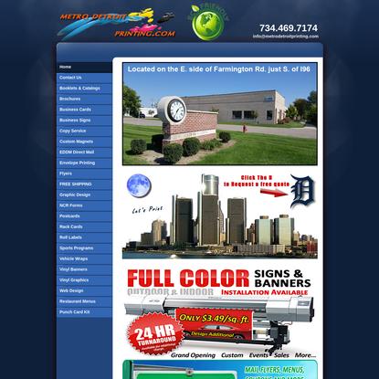 Metro Detroit Printing, signs, banners, EDDM, graphics, vehicle