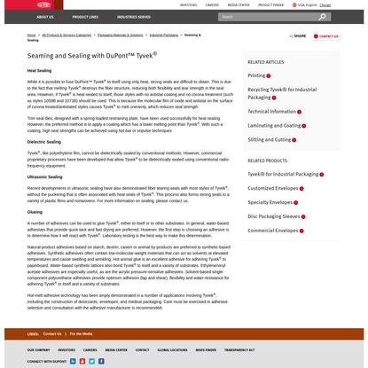 Seaming & Sealing   DuPont USA