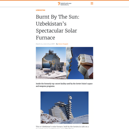 Burnt By The Sun: Uzbekistan's Spectacular Solar Furnace