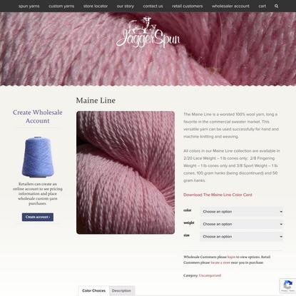 Maine Line worsted wool yarn, hand, machine knitting weaving