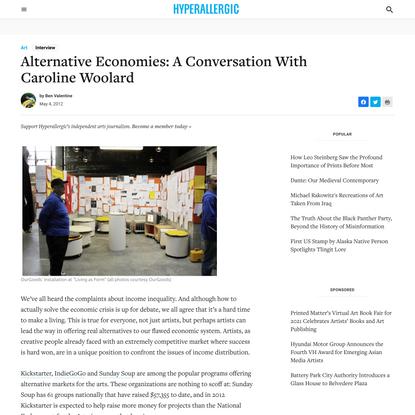 Alternative Economies: A Conversation With Caroline Woolard