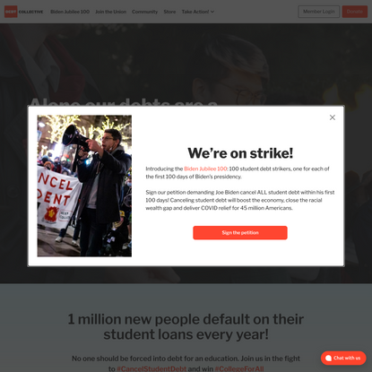 You are not a loan • Debt Collective