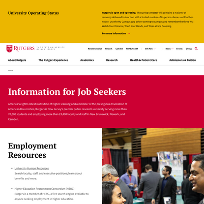 Information for Job Seekers