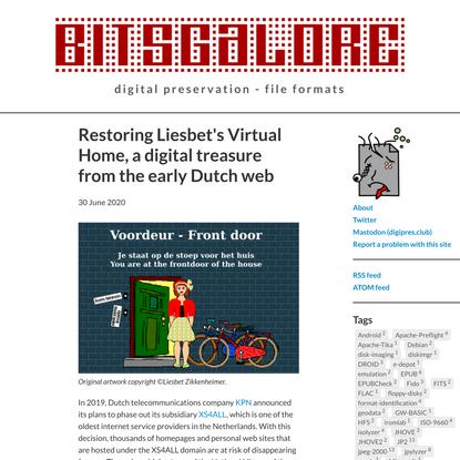 Restoring Liesbet's Virtual Home, a digital treasure from the early Dutch web