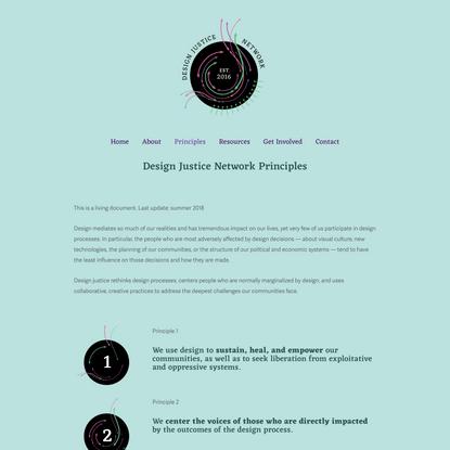 Read the Principles — Design Justice Network