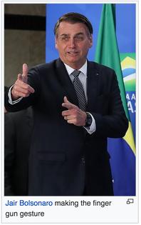 bolsonaro finger gun