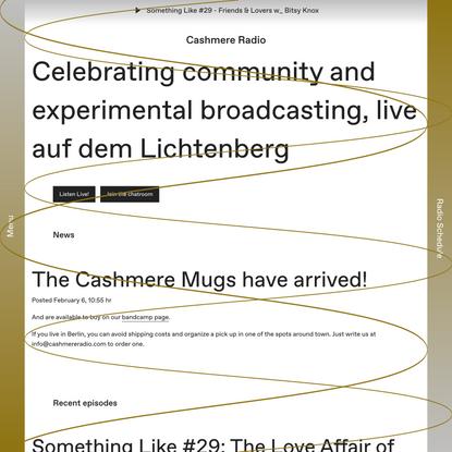 Cashmere Radio - Experimental radio station, Berlin