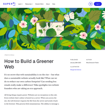 How to Build a Greener Web - SuperLibrary - SuperHi