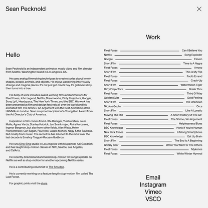 Hello | Sean Pecknold