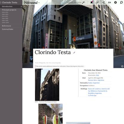 Clorindo Testa   Wikiwand