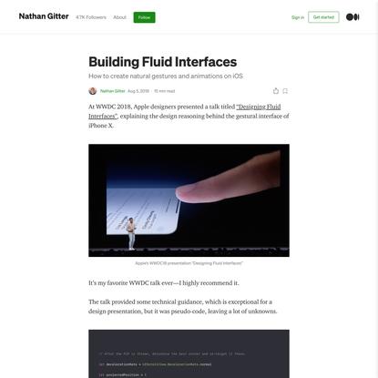 Building Fluid Interfaces