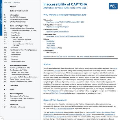 Inaccessibility of CAPTCHA