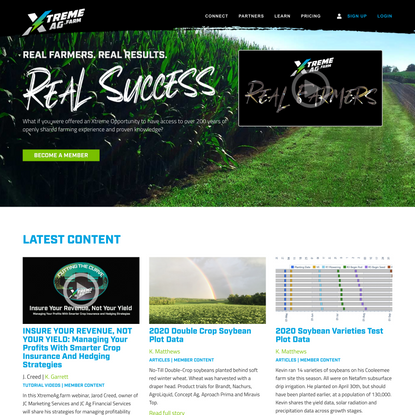 Real Farmers. Real Results. Real Success.   XtremeAg.Farm