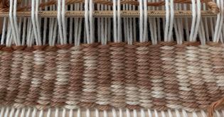 preliminary weaving closeup