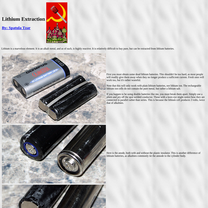 Lithium Extraction