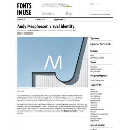 Andy Macpherson visual identity