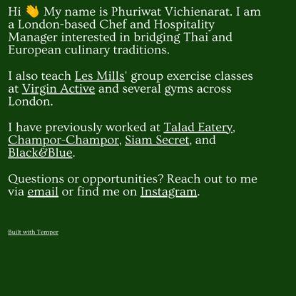Phuriwat Vichienarat's website