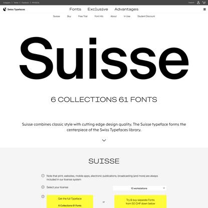Suisse – Swiss Typefaces