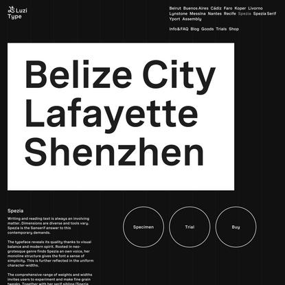 Spezia Font – Luzi Type Foundry