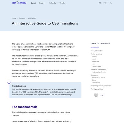 An Interactive Guide to CSS Transitions