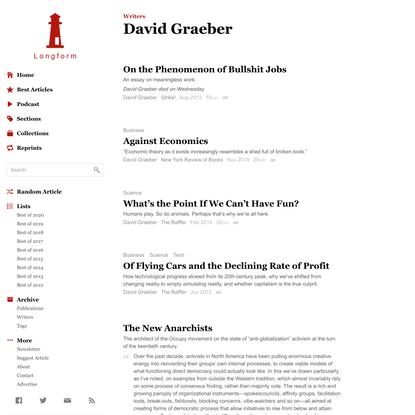 David Graeber · Longform