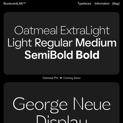 Boulevard LAB Type Foundry